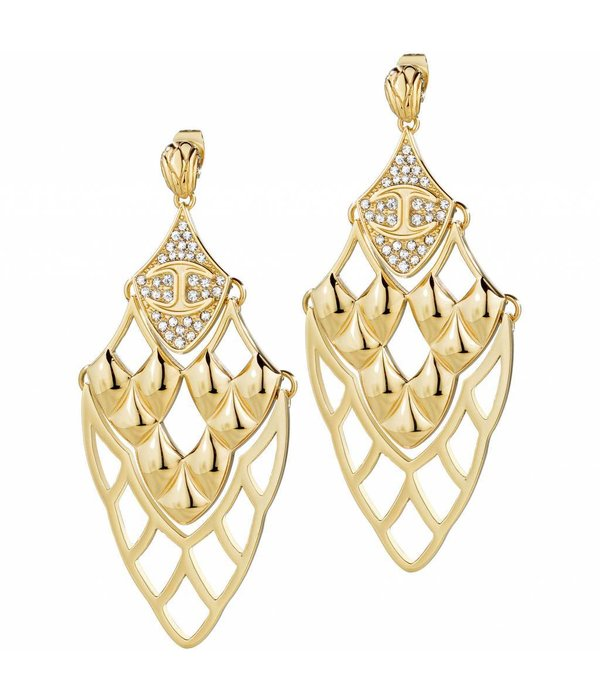 JUST CAVALLI Just Skin - SCAGD04 - earrings - crystal - gold