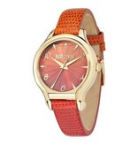 JUST CAVALLI Just Fushion R7251533501 dames horloge met ORANJE leder band