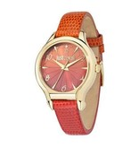 JUST CAVALLI Juste dames Fushion R7251533501 montre avec bracelet en cuir ORANGE