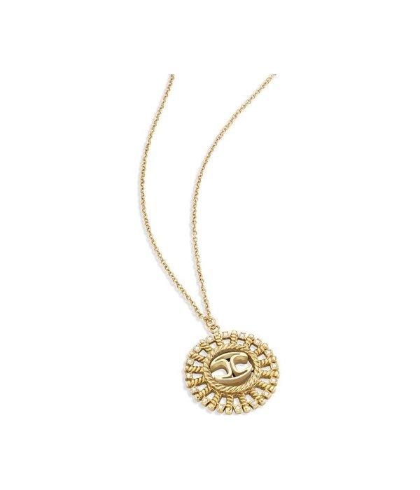 JUST CAVALLI Just Sun halsketting SCAGB01 in goudkleurig edelstaaal met kristallen