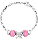 MORELLATO DROPS SCZ730 Armband mit rosa Perlen und Kristallen