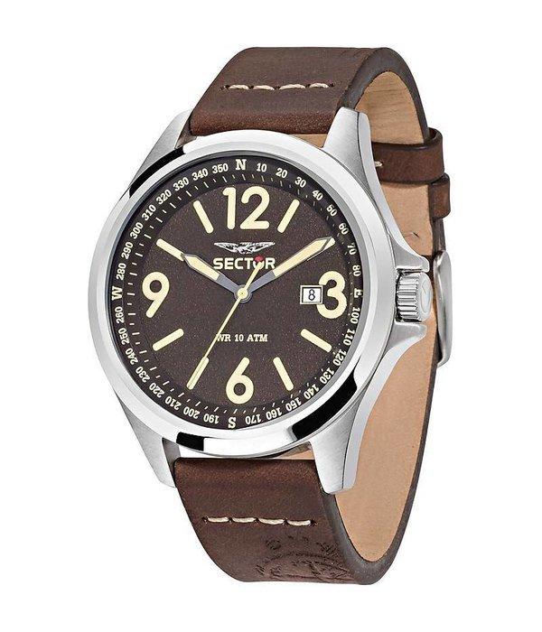 """SECTOR """"180"""" R3251180009 heren horloge met dag aanduiding"""