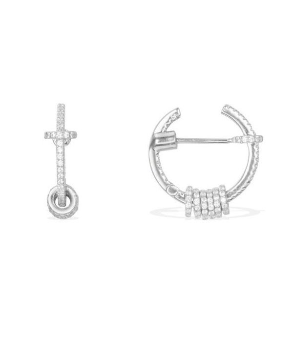 APM MONACO Symbole AE9753OX earrings in silver with crystal