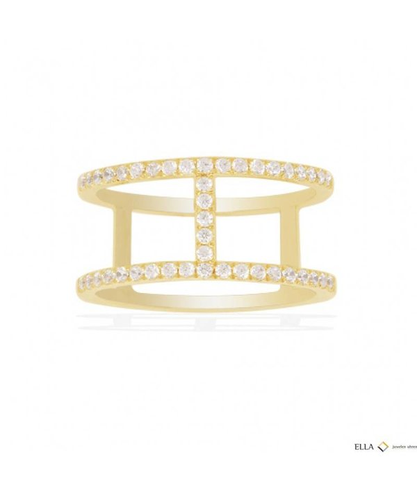 APM MONACO ETE Ring A16876OXY Gold-Silber mit Kristallen