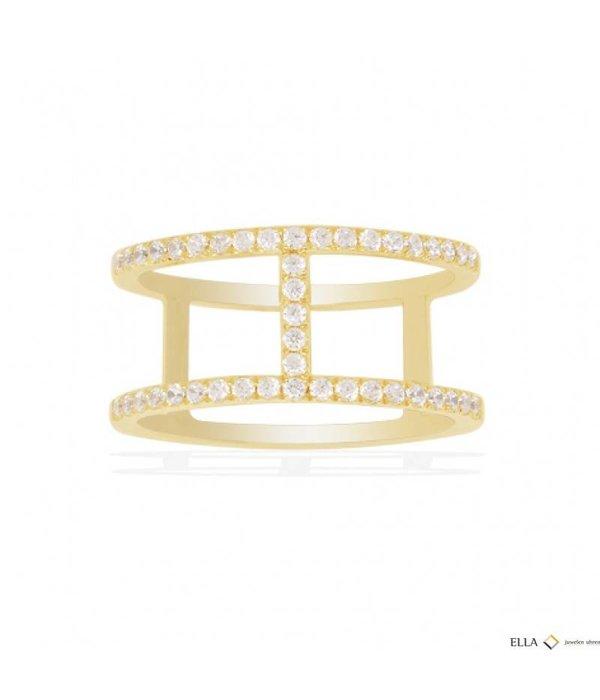 APM MONACO ETE Ring A16876OXY goudkleurig zilver met kristallen
