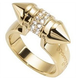JUST CAVALLI JUST PIN SCAHF07 RING, gold-colored stainless steel with crystals
