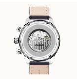 INGERSOLL Montre I02301 Le Delta hommes, affichage du jour automatique et bracelet en cuir noir