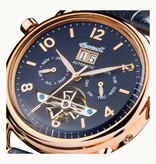 INGERSOLL Men's watch I00902 The New England, automatic, blue dial and leather strap
