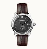 INGERSOLL I00801 The New England heren horloge met dag aanduding en bruin leder band