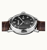 INGERSOLL I00801 The New England men's watch with day aanduding and brown leather strap