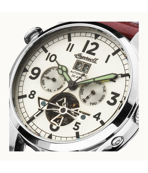 INGERSOLL Armstrong - I02101 - montre - machine - cuir - 45mm