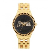 JEAN PAUL GAULTIER 8501602 gold watch with black crystals