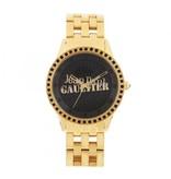 JEAN PAUL GAULTIER 8501602 horloge goudkleurig met zwarte kristallen