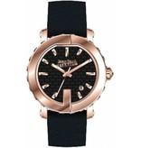 JEAN PAUL GAULTIER 8500516 dames horloge , rosé kleurig met zwart leder band
