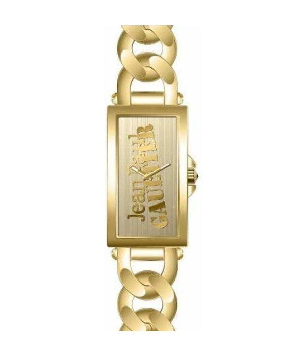 JEAN PAUL GAULTIER 8500906 dames horloge, goud kleurige kast en band