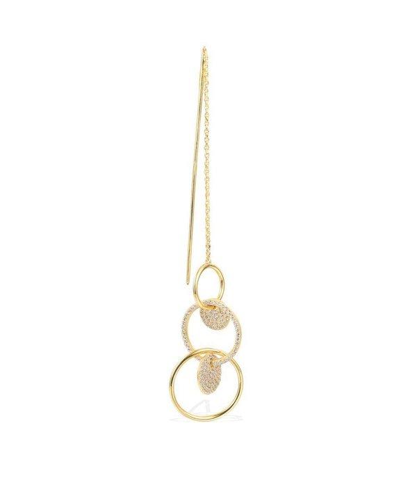 APM MONACO Saint Tropez AE9541OXY oorhangers , zilver met kristallen, goud kleurig