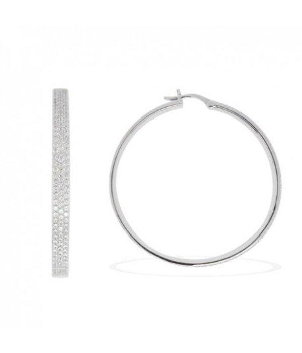 APM MONACO Neo Classique AE8179OX oorhanges in zilver met kristallen