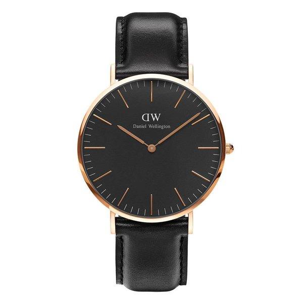 DW00100127 Klassische Sheffield schwarze Uhr