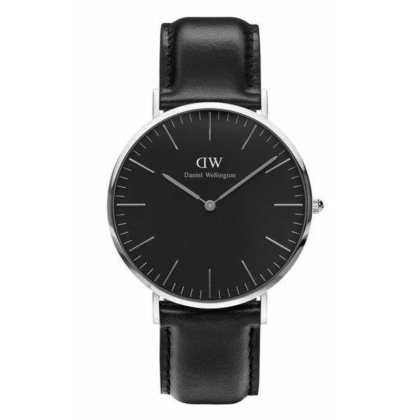 DW00100133 Klassische Sheffield schwarze Uhr