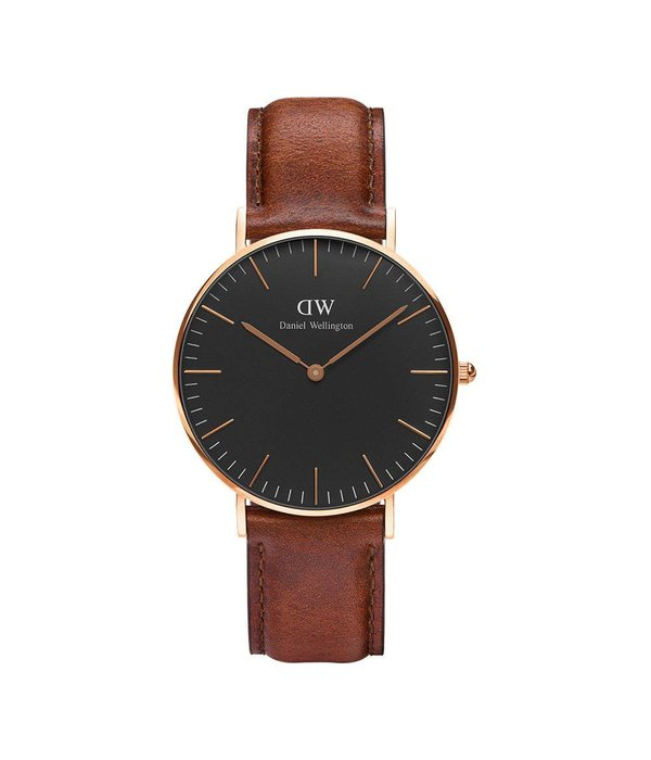 DANIEL WELLINGTON Classic St Mawes - DW00100136 - horloge - leer - zilver kleurig - 36mm