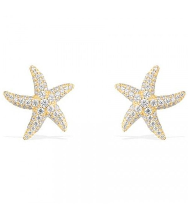 APM MONACO AE9546OXY Ramatuelle earrings in silver with gold-colored crystals