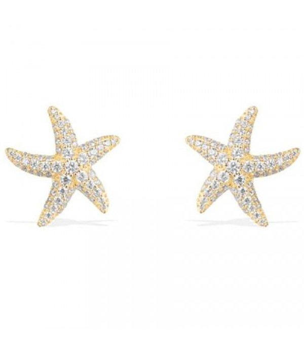 APM MONACO AE9546OXY Ramatuelle oorhangers in zilver goud kleurig met kristallen