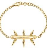 JUST CAVALLI SCAHF06 armband Just Pin goud kleurig edelstaal met logo