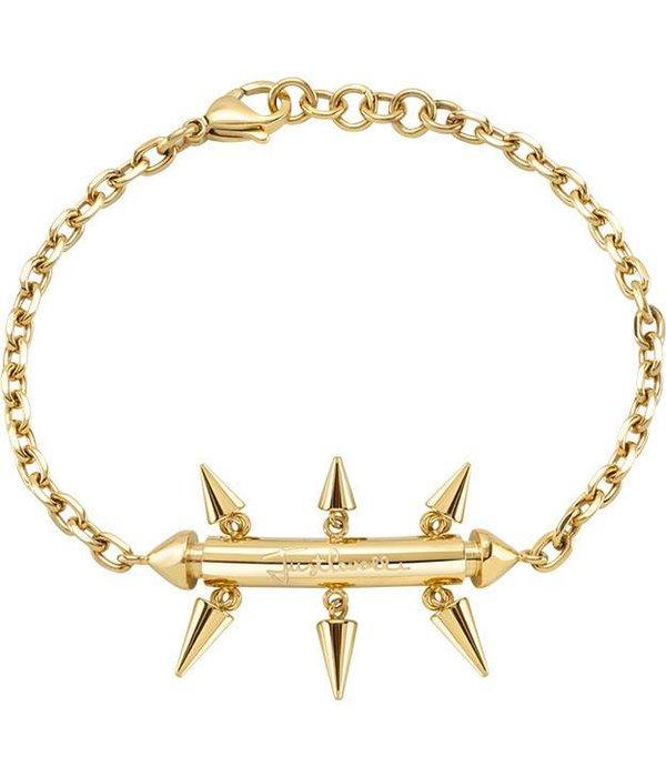 JUST CAVALLI SCAHF06 Armband Gerade Pin Gold Edelstahl-Logo