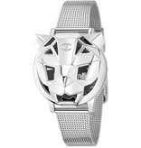 JUST CAVALLI R7251561503 JUSTE TIGER WATCH SILVER COULEUR NOIR DIAL