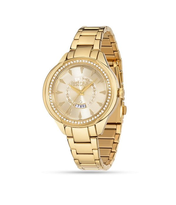 JUST CAVALLI R7253571501 WATCH JC01, GOLDEN DAY WITH CRYSTAL DISPLAY