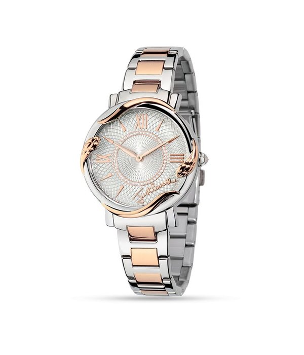 JUST CAVALLI R7253551504 JUST MIRAGE LADIES WATCH IN ROSé AND SILVER COLORED STAINLESS STEEL