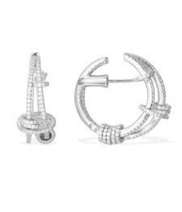APM MONACO AE9752OX Symboles oorhangers in zilver met kristallen