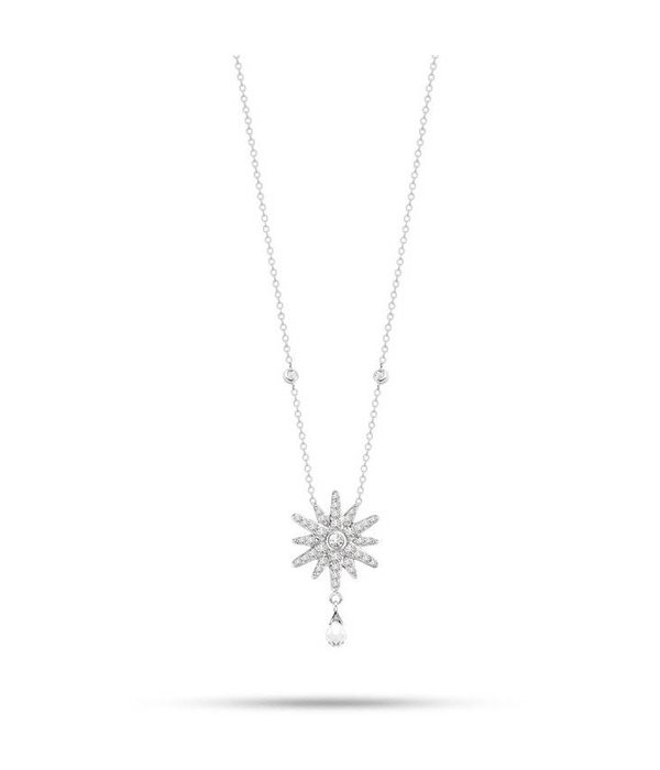 MORELLATO SAHK13 PURA KETTE in Silber mit CRYSTAL