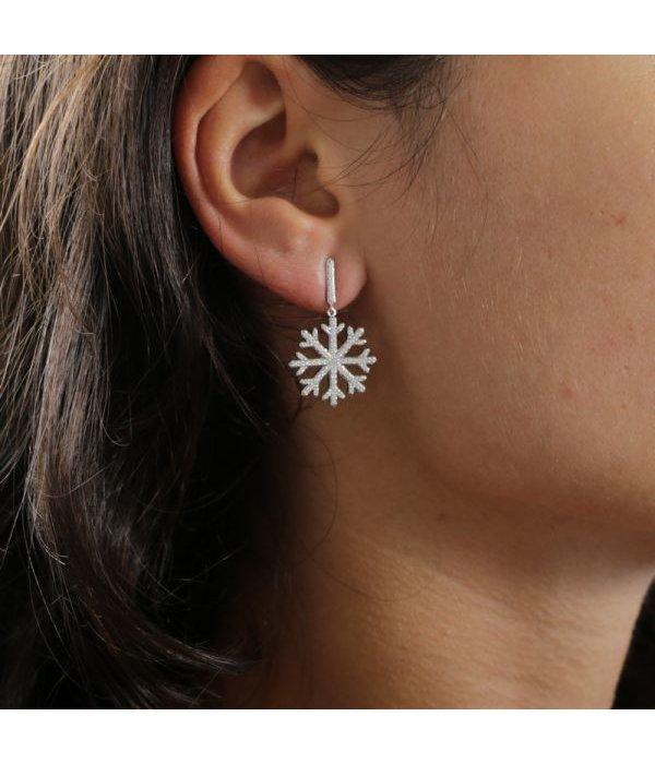 MORELLATO SAHK07 PURA Ohrringe aus Sterling Silber 925% mit Kristallen