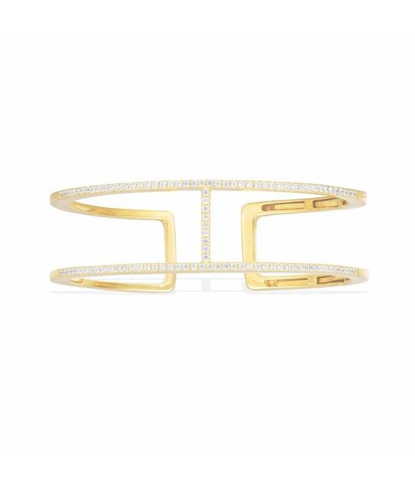APM MONACO Croissette AB3189OXY armband in zilver goudkleurig met kristallen
