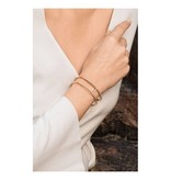 APM MONACO Croissette AB3189OXY bracelet in silver with gold-colored crystals
