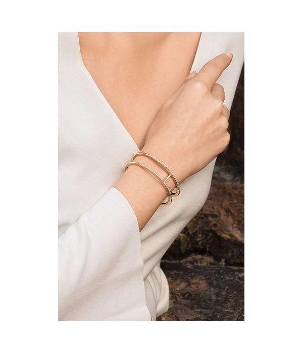 APM MONACO Croissette AB3189OXY Armband aus Silber mit goldfarbenen Kristallen