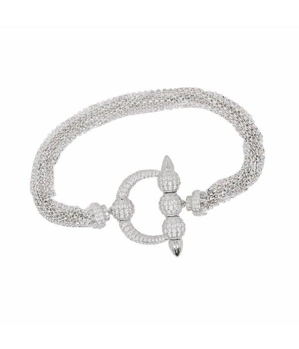 APM MONACO TALISMAN AB3231OX bracelet en argent avec CRYSTAL