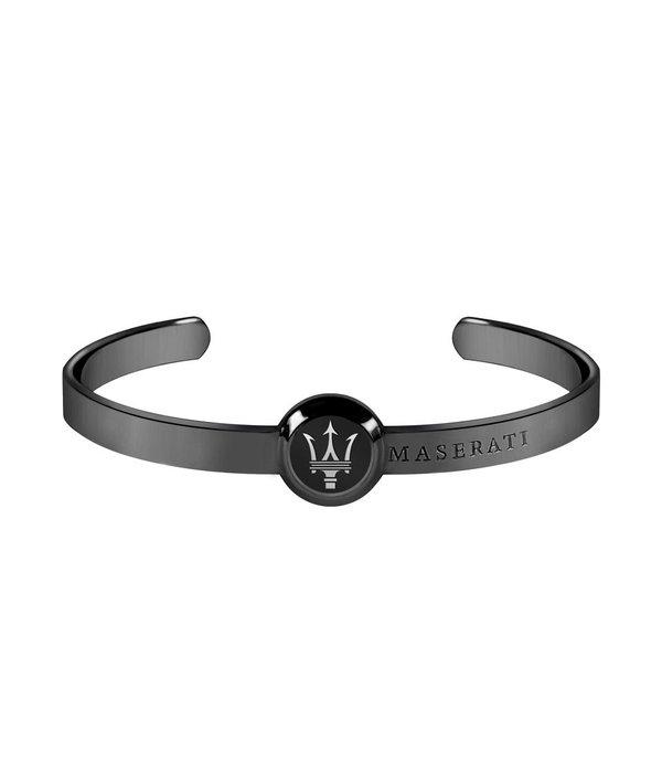 MASERATI  JM416AIK04 MEN Armband aus Edelstahl Schwarz mit LOGO Maserati