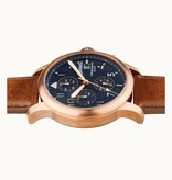 INGERSOLL I01502 The Hatton men's watch, chronograph brown leather strap