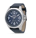 """SECTOR R3251180017 """"140"""" men's watch with blue dial and blue leather strap"""