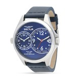 """SECTOR R3251180015 """"180"""" men's watch, dual time, blue dial and leather strap"""