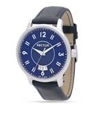 """SECTOR R3251593001 """"640"""" course la montre des hommes de couleur bleu avec indication du jour"""