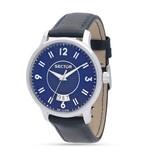 """SECTOR R3251593001 """"640"""" Uhr der Männer in blauer Farbe mit Tag-Anzeige Rennen"""