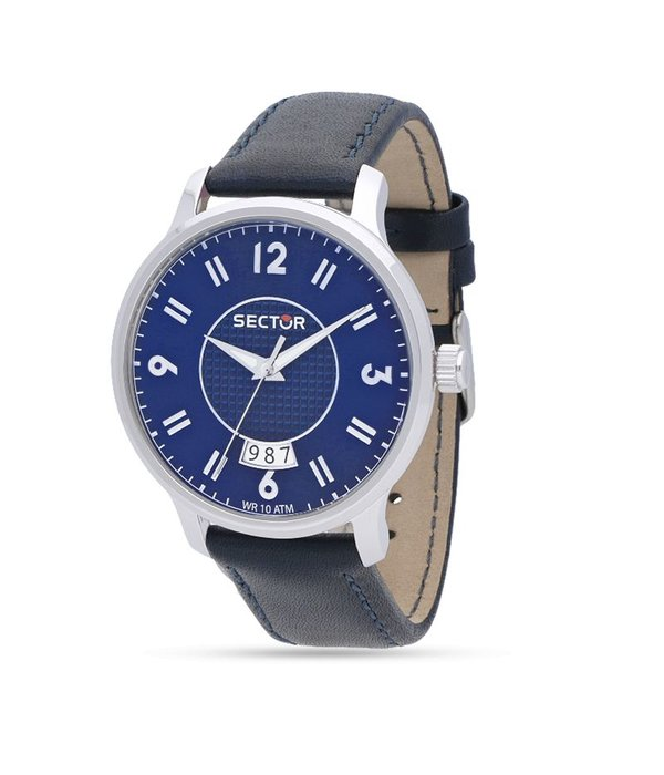 """SECTOR R3251593001 """"640"""" racing men's watch in blue color with day indication"""