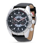 "SECTOR R3271794002 ""330"" racing men's watch, chronograph with black leather strap"