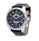 """SECTOR R3271794002 """"330"""" course montre homme, chronographe avec bracelet en cuir noir"""