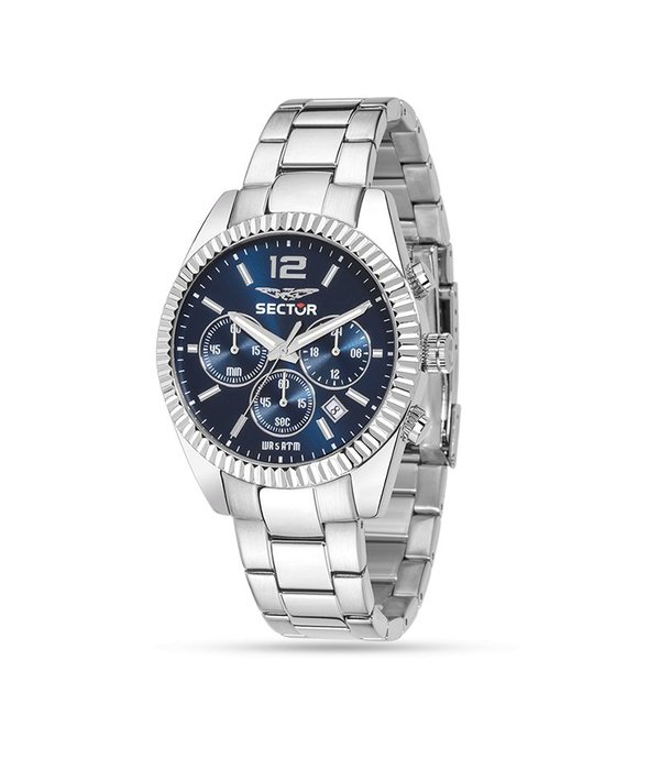 """SECTOR R3273676004 """"240"""" racing watch, chronograph with blue dial"""