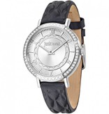 JUST CAVALLI R7251527504 Just Hour Ladies Watch with crystals and black leather strap