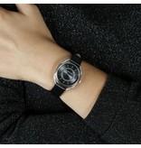 MORELLATO dames R0151137505 Tivoli avec bracelet et krsitallen en cuir noir